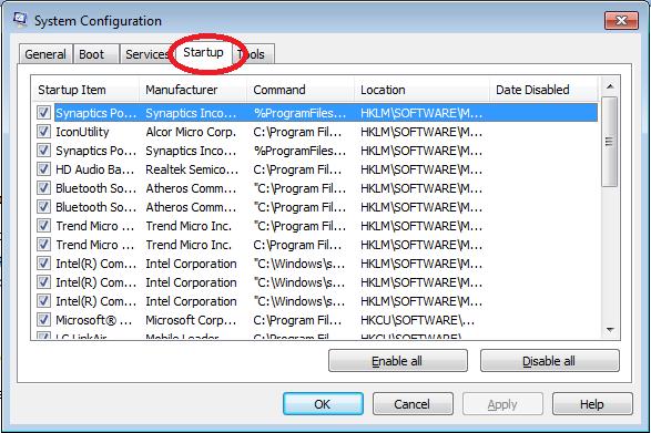 Speed up Windows 7 - Startup