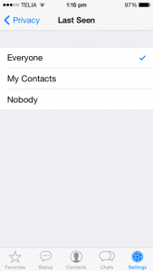 Hide Last Seen,Profile Photo and Status in WhatsApp