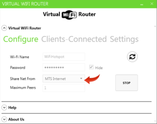 Make a laptop WiFi Hotspot - Share net from