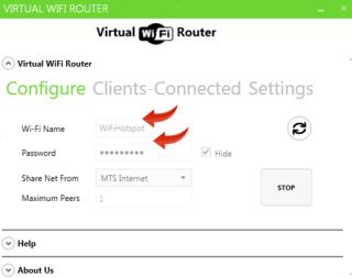 Make a laptop WiFi Hotspot - setup