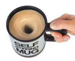 Self Stirring Mug, No Need of a Spoon