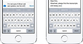 IOS 8 Features-Smarter Keyboard