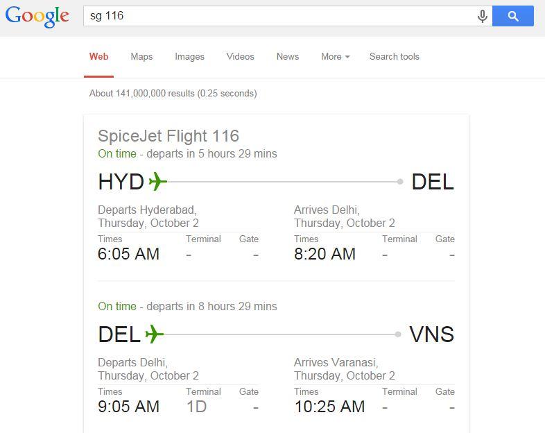Google Facts-Check Flight Status