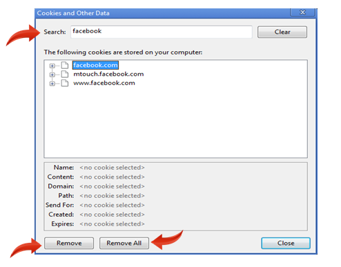 remove a particular website from history of google chrome - cookies and other data