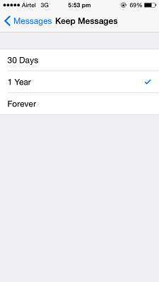 Delete Messages Automatically iOS 8