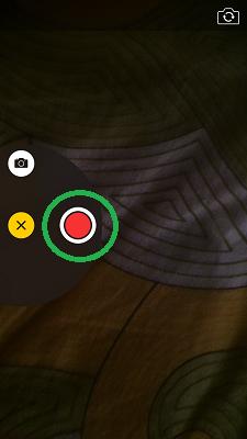 Send Video Message iOS 8 - Video Button