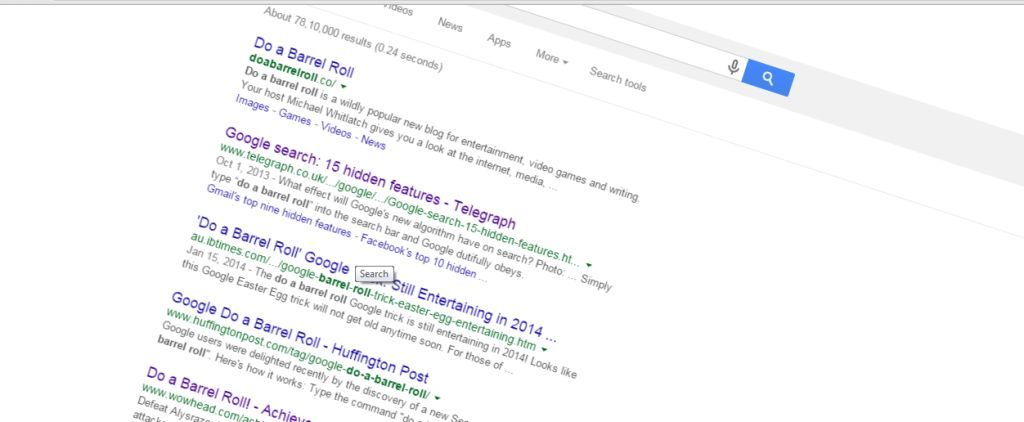 interesting facts about google - do a barrel roll