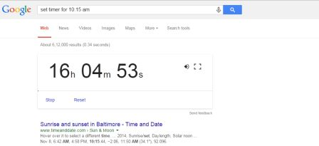 interesting facts about google - set timer