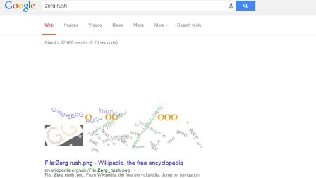 interesting facts about google - zerg rush