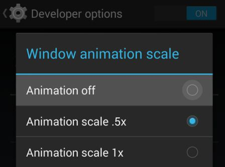 make android phone faster - disable animations
