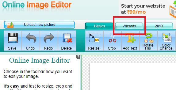wizards - background eraser tool