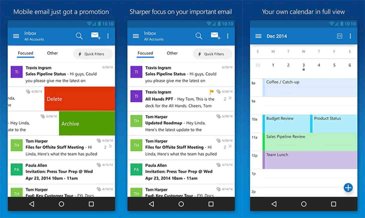 Microsoft releases its Outlook Email app for iOS and Android