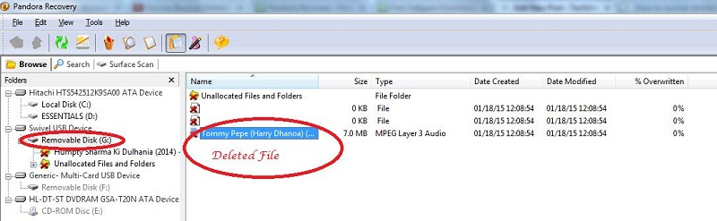 Recover Deleted files from Pen Drive