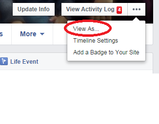 Hide Friends list on Facebook - View As