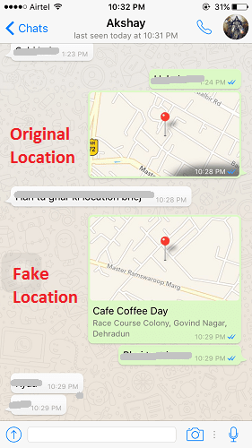 Original vs Fake Location in iOS