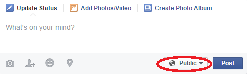 share posts with selected friends on facebook - option