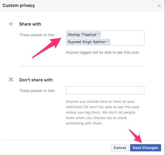 Show Friend list to certain friends Facebook