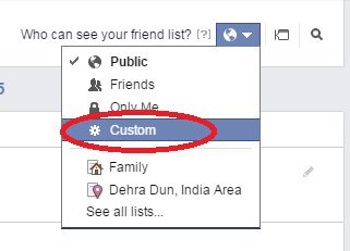 how to hide friends list from certain friends - custom
