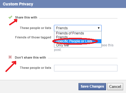 how to hide friends list from certain friends - select friends