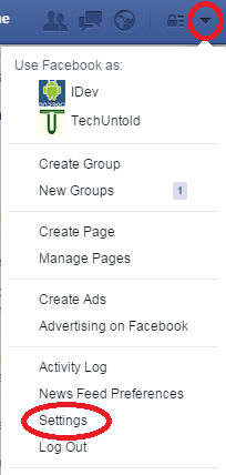 how to remotely log out of facebook - pc settings