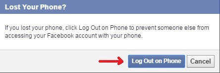 log out facebook
