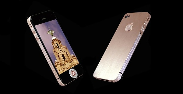 most expensive phones - iphone-4-diamond-rose-edition