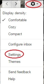undo a sent email in gmail - settings option