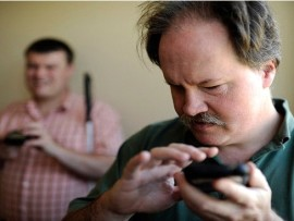 Smartphones for visually impaired people