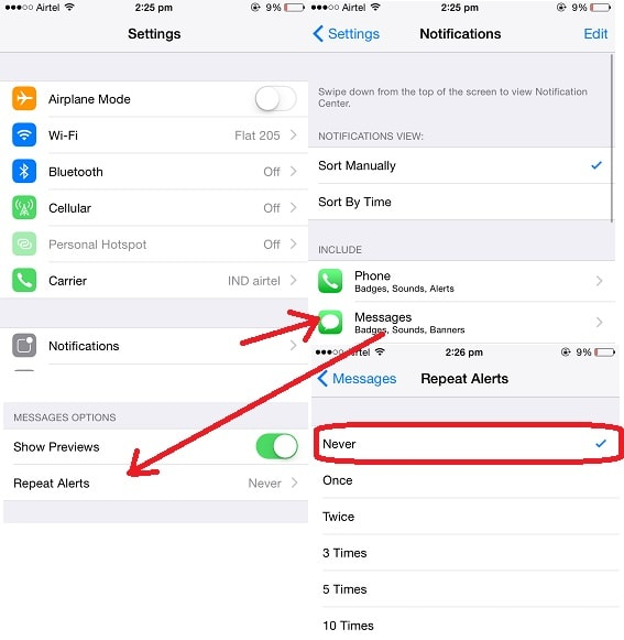 Turn off double notification in iPhone/iPad