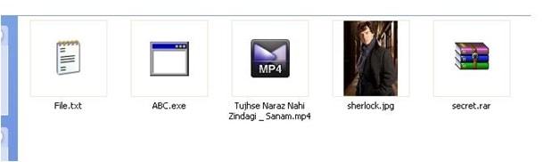 hide files - folder look-min