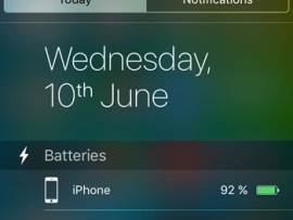 Here's Why Batteries widget in iOS 9 is missing