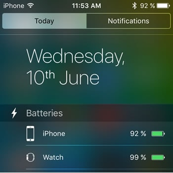 How to get missing Batteries widget in iOS 9 on iPhone