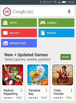 android app update - icon