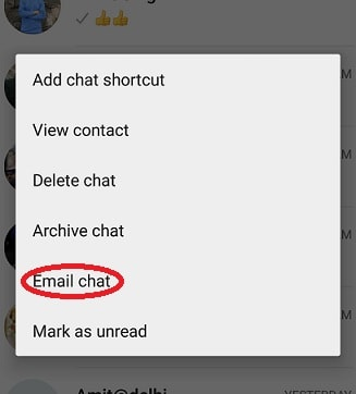 email chat in android