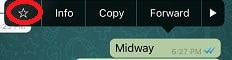 How to mark message as Starred in WhatsApp