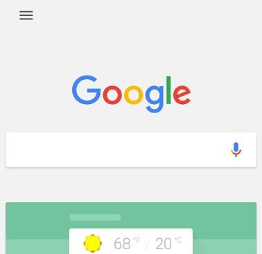 google voice interface