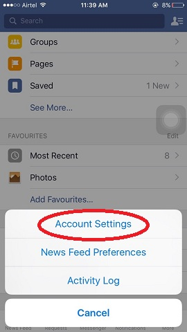 stop autoplay videos in Facebook iPhone