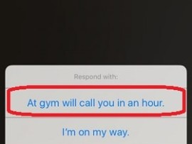 How to create custom replies to respond to an incoming call in iPhone