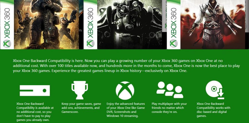 Xbox 360 16 games added to work with Xbox One