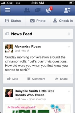 comment on post even when offile -Facebook