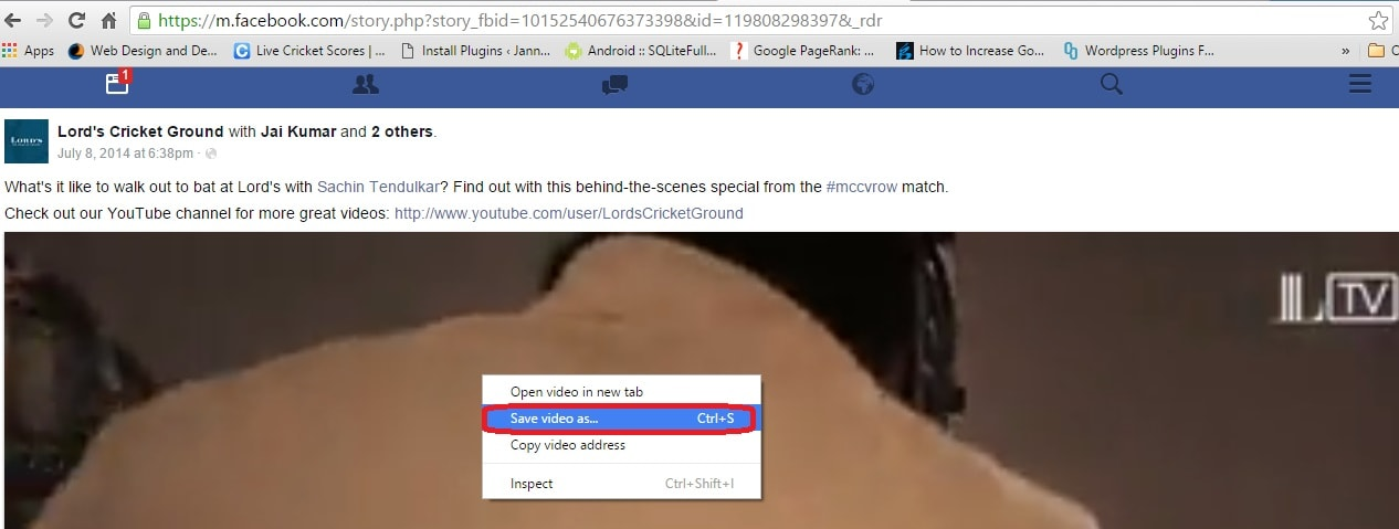 Save FB videos without any software