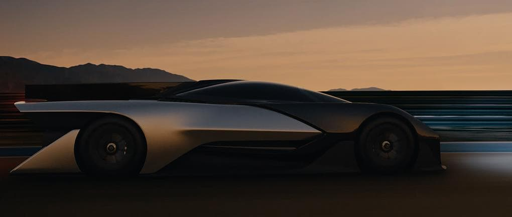 Faraday Future release its first electric car