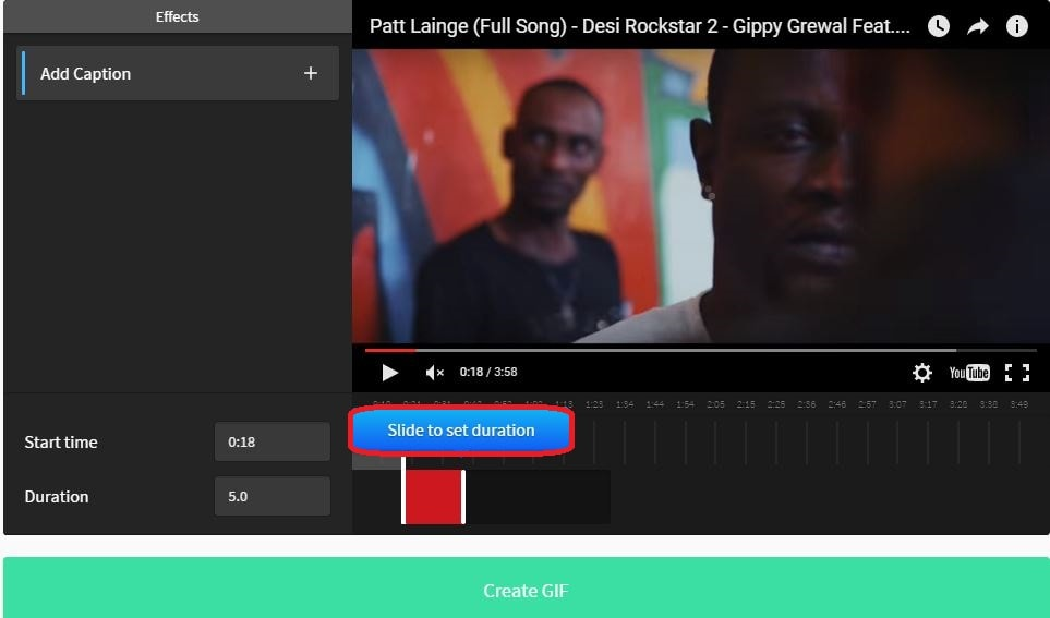 convert youtube video to gif online free