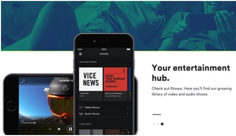 Spotify allows video streaming