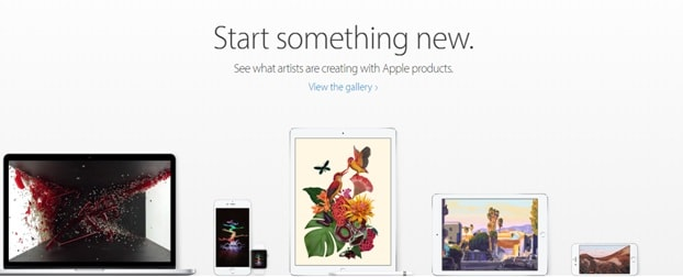 apple start something new campaign - devices