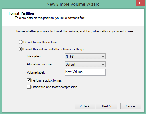partition hard disk without formatting in windows - quick format