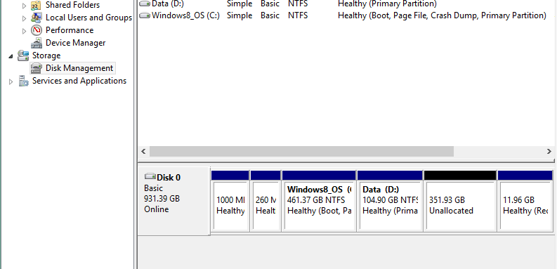 partition hard disk without formatting in windows - unallocated