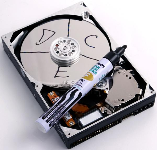 partition hard drive in windows