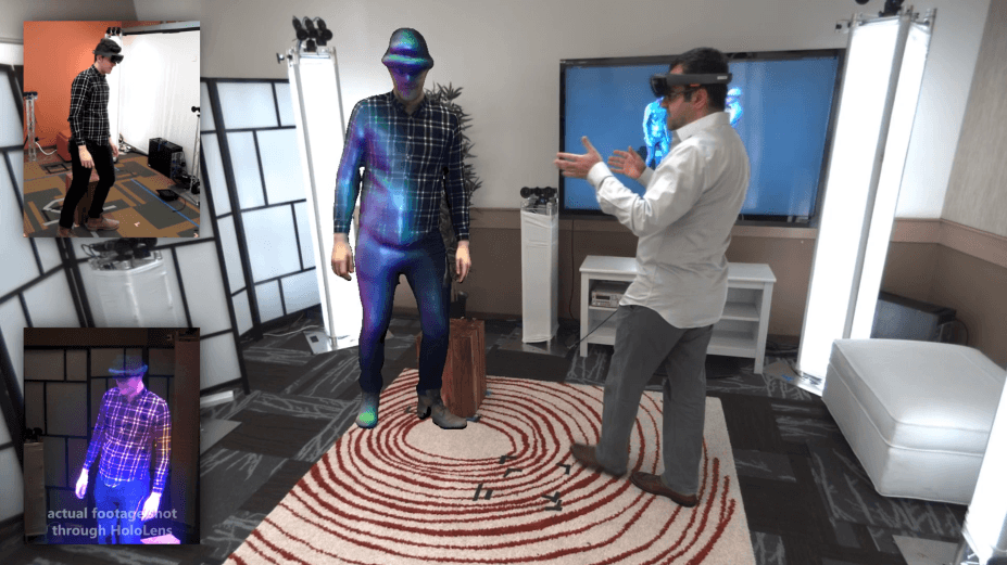 real time Microsoft Holoportation