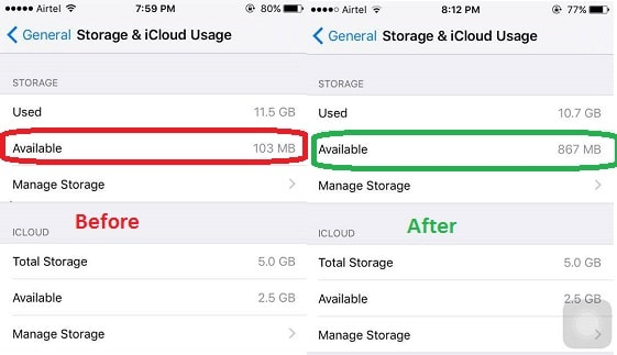 Make space on iOS device without deleting anything